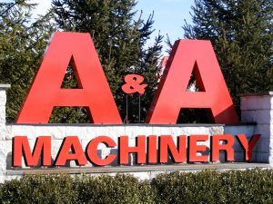 AA Machinery Moving Sign