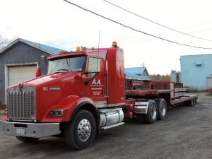 flatbed machinery transportation