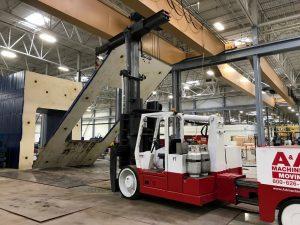 A&A Versa Lift Removing Counterweight Steel