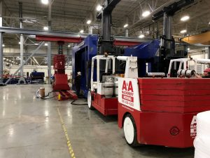 A&A Versa-Lift and Gantry system laying over a 632 Tonpress in York, PA.