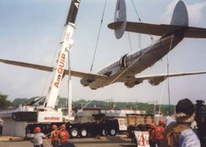 From the early years. Relocating an historic Constellation aircraft used as a restaurant for many years. We dismantled and transported to Dover Air Force Base where it was restored for their aircraft museum
