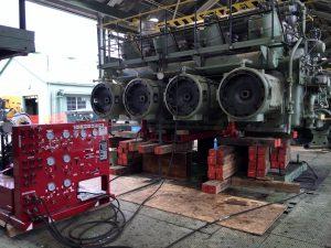 Columbia Gas Cleveland Compressor Station GMZ Engine compressor jack and slide