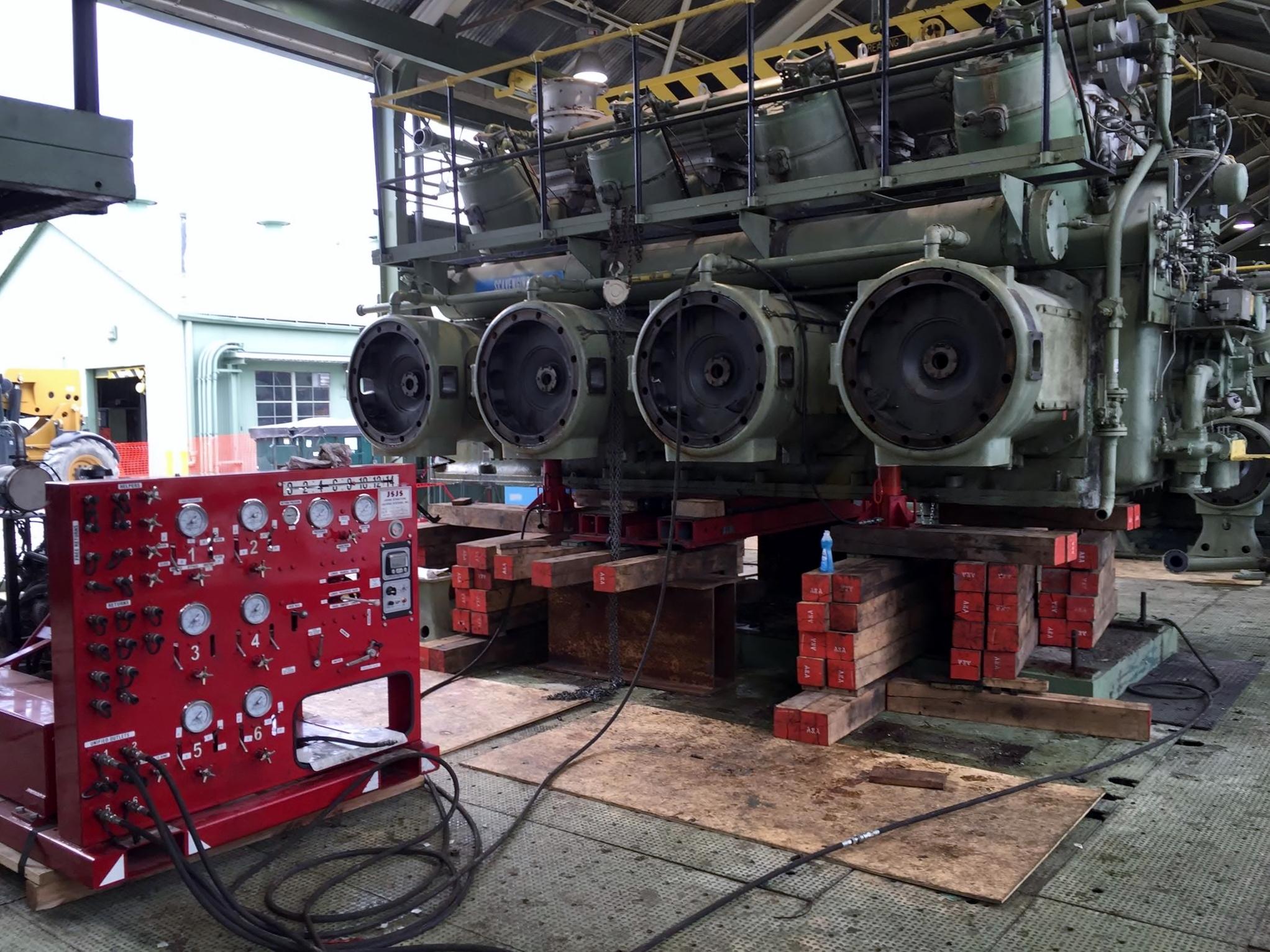 Remove 6 1 100hp Cooper Gas Compressors A Amp A Machinery