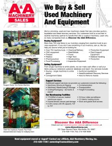 Machinery Sales Flyer