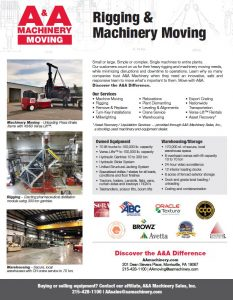 2018 Rigging & Moving Flyer