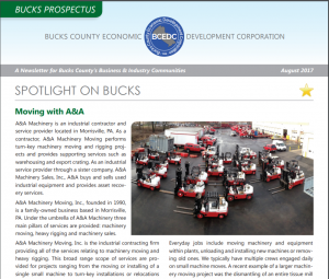 A&A Featured on BCEDC Newsletter Cover