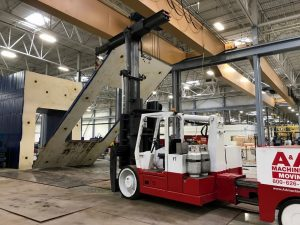 """Dismantling a 25,000 Ton press into 5"""" sections at a fabrication plant."""