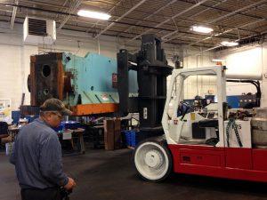 1000 Ton Press Ram Dismantle