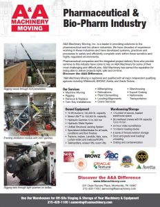 2018 AA Pharma Bio Flyer Rigging Services
