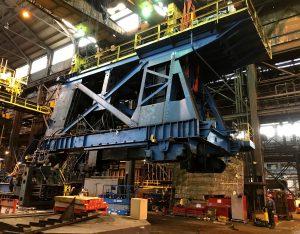 Disassembling 150T Manipulator at heavy industrial forging operation