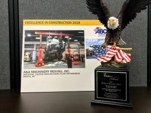 A&A Best in Specialty Rigging Award