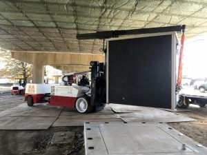 Rigging & Installing the Prefab Communications Building Under the Commodore Barry Bridge in Chester, Pennsylvania.