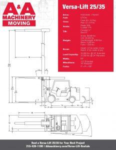 Versa-Lift 2535_Specs Sheet