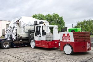 Versa-Lift unloading 300T press