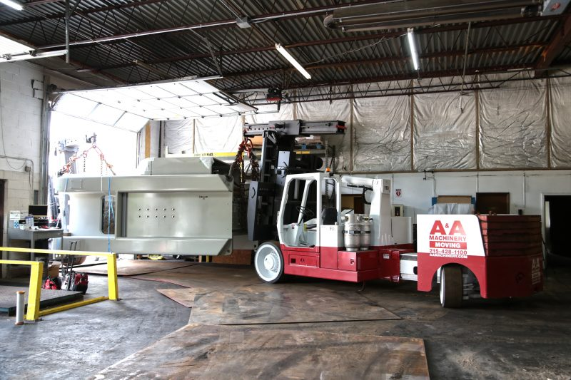 transferring 300T press into manufacturing facility